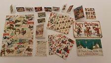 1:48th scale XMAS vintage dollshouse KIT christmas cards giftwrap music poster