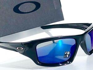 NEW* Oakley VALVE Black POLARIZED Deep BLUE ANGLER Sunglass 9236-12