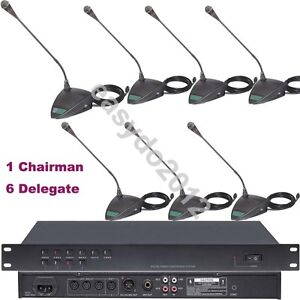 MICWL Professional Wired Digital Conference Gooseneck Tabletop 7 Microphone Kits