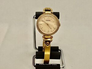 Fossil Georgia Glitz 32mm Watch For Women. Rose Gold Tone. New Battery