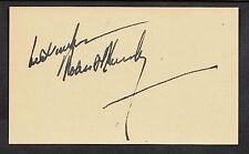 Robert Bobby Kennedy Autograph Reprint On Original Period 1960s 3x5 Crd