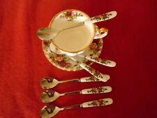 Royal albert Old Country roses   *** INSPIRED 6 TEA / COFFEE SPOONS UNUSED ***