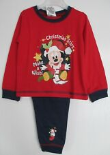 Disney Mickey Mouse long Red Christmas Pyjamas Pyjamas age 12 18 Months d4af03d8614
