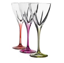 Wine Glass Vintage Goblet Lead-free Crystal Multi-color Design Table Decor 6 Pcs