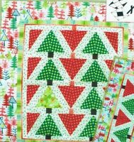 Lone Pine XBlocks Christmas Tree Quilting Pattern Quilt Queen Designs Sealed NEW