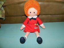 """Annie Vintage KNICKERBOCKER 16"""" Cloth Plush Stuffed Little Orphan Rag Doll"""