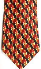 """Valentino Men's Silk Tie 56.5"""" X 4"""" Multi-Color Floral Geometric"""
