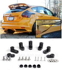 For 13-18 Ford Focus ST ANODIZED BLACK JDM Rear Wing Spoiler Riser Extender Kit