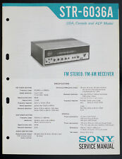 SONY STR-6036A Original FM/AM Stereo Receiver Service-Manual/Diagram TOP o133