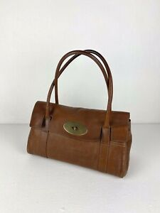 Mulberry East West Bayswater Oak Tan NVT Natural Leather Tote Style Handbag