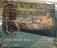 Intex 56835EP River Run I Camo Inflatable Floating Towable Water Tube Raft with