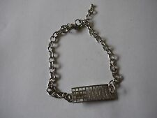 Mackintosh Chair Back From Fine English Pewter on a Anklet / Bracelet codew19