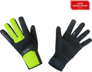 GORE M WINDSTOPPER Thermo Full Finger Gloves | Black/Neon Yellow | L