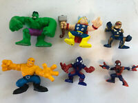 Super Hero Squad Figure Lot of 6 Avenger Hulk Thor Nova Thing Marvel Hasbro
