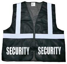 Security safety vest, black, Reflective design, High Visibility vest, bodyguard