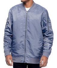 Men's Elwood Slate Blue/Gray Lightweight Zipper Front Bomber Jacket Size S   NEW