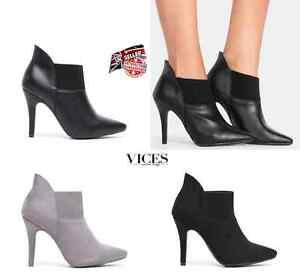 WOMENS-LADIES HIGH HEEL CHELSEA BOOTIES ANKLE BIKER BOOTS NEW*UK STOCK