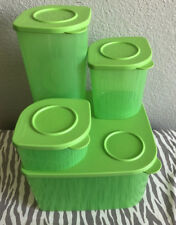 Tupperware Square Fresh 'n Cool Refrigerator Containers Set Of Four 22 Cups New