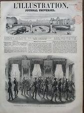 L'ILLUSTRATION 1851 N 451 RECEPTION  DES OFFICIERS DE LA MARINE DE TOULON,
