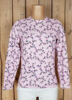 LANDS END Girls Size XL Long Sleeve Shirt Round Neck Floral Print Thermal Top