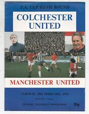 COLCHESTER UNITED V MANCHESTER UTD FA CUP 20/2/79