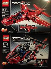 LEGO Technic - Jet Plane (9394) and Rescue Helicopter (8068) Set