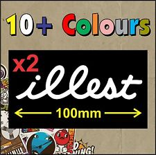 illest Flatface STICKER DECAL JDM TURBO DRIFT x2 - HIGH QUALITY - Small