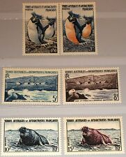 Taaf FSAT 1956 Maury 2-7 pingouins phoques penguins ELEPHANT seal faune animaux MNH