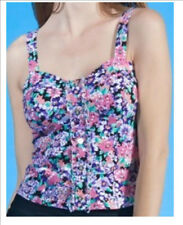 A Pretty Purple Floral Vest Style Top, Shaped, by LIPSY LONDON,Size 14, NEW