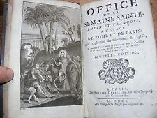 OFFICE DE LA SEMAINE SAINTE.1701.Chez A.Dezallier.A Mdme la Chancelière.