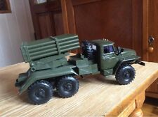 "URAL - BM-21 GRAD   1:43 6X6  Missile System ""HAIL""  Russian car die cast"