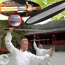 Hand Forged pattern steel blade martial arts Tai-chi sword Brass Fittings #0078