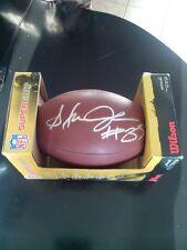 Steven jackson autograph football coa