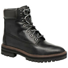 Timberland London Square 6 Leather Lace-Up Ankle Combat Womens Boots
