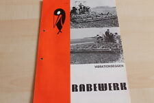 144446) Rabewerk Dreipunkt Vibrationseggen Prospekt 06/1971