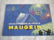 Vintage catalogue Brochures Advert maugein Accordeons French