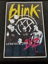 SUMMER 2009 BLINK 182 CONCERT POSTER REUNION TOUR VIP PACKAGE RARE LIMITED