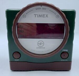 Timex Expedition T155Q Nature Sounds Digital Alarm Clock Dual Alarms TESTED EUC