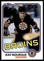1981-82 TOPPS HOCKEY RAY BOURQUE BOSTON BRUINS #5