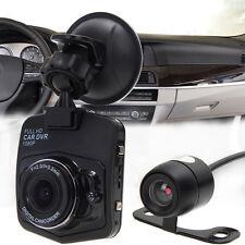 "2.4"" HD Dual Len Car Vehicle Camera Dashboard Dash Cam DVR Recorder Night Vision"