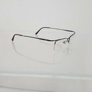 RayBan Dark Rose Gold Metal Half Rim Rectangular Glasses Titanium 51 19 140