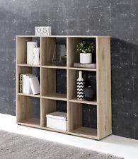 Wilmes: Raumteiler mit 9 Fächer - Bücherregal Standregal Regal - Eiche Sand