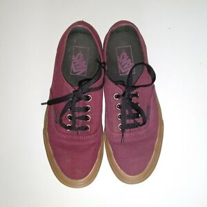 Vans Authentic (Gum Outsole) Catawba Grape (Maroon/Red/Burgundy) UK Size 4.5