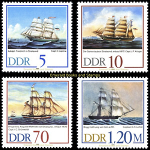EBS East Germany DDR 1988 - Sailing Ships - Michel 3198-3201 MNH**