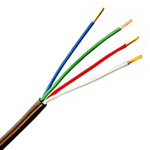 Thermostat Wire 20/4 Solid Copper 20AWG 4-Conductor Power Limited Cable UL CL2