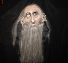 Hairy Old Hippie Rock Star Paper Magic Group Halloween Mask