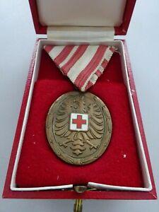 AB2 Österreich Bronzene Verdienstmedaille ÖRK Rotes Kreuz im Etui