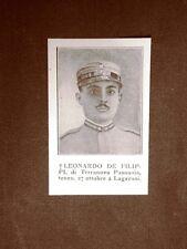 WW1 Prima guerra mondiale 1914-1918 Leonardo De Filippi di Terranova Pausania