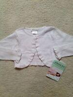 New White Bonnie Jean Long-sleeve Bolero Sweater (Girls) (S) Small 4/5, Rufflles