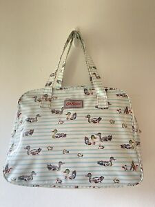 Cath Kidston Rare Duck Print Large Oilcloth Overnight Weekend Shoulder Bag NEW